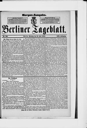 Berliner Tageblatt und Handels-Zeitung on Jul 15, 1883