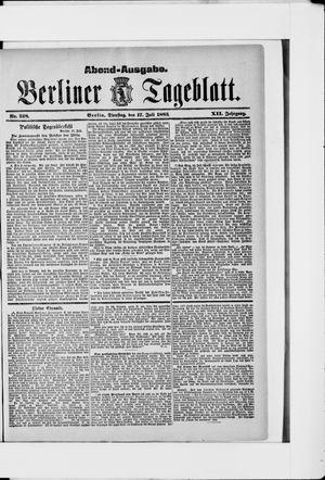 Berliner Tageblatt und Handels-Zeitung vom 17.07.1883