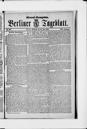 Berliner Tageblatt und Handels-Zeitung vom 18.07.1883