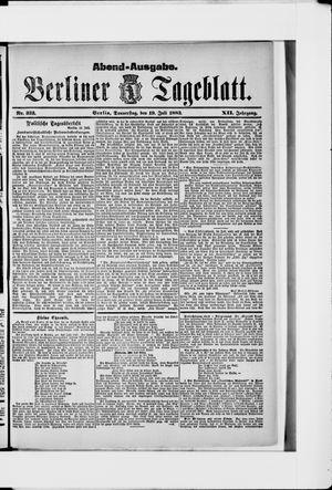 Berliner Tageblatt und Handels-Zeitung vom 19.07.1883