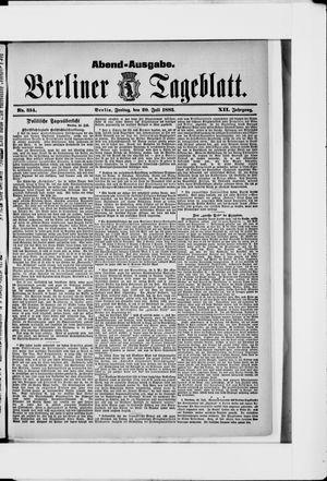 Berliner Tageblatt und Handels-Zeitung vom 20.07.1883