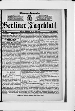 Berliner Tageblatt und Handels-Zeitung vom 21.07.1883