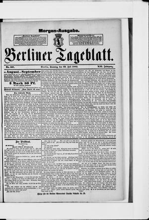 Berliner Tageblatt und Handels-Zeitung vom 22.07.1883
