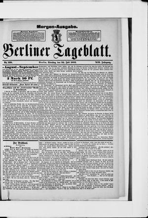 Berliner Tageblatt und Handels-Zeitung vom 24.07.1883