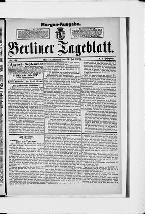 Berliner Tageblatt und Handels-Zeitung vom 25.07.1883