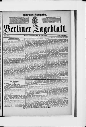 Berliner Tageblatt und Handels-Zeitung vom 26.07.1883