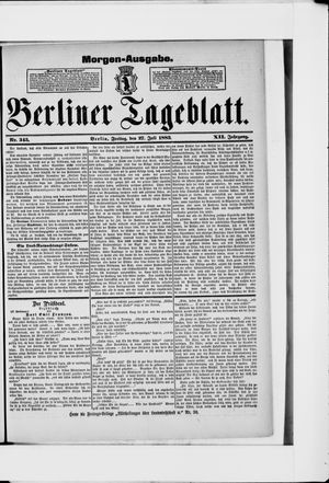 Berliner Tageblatt und Handels-Zeitung on Jul 27, 1883