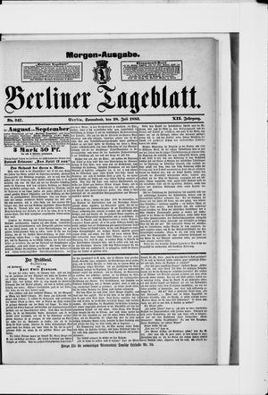 Berliner Tageblatt und Handels-Zeitung vom 28.07.1883