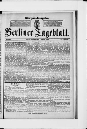 Berliner Tageblatt und Handels-Zeitung vom 01.08.1883