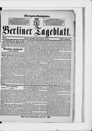 Berliner Tageblatt und Handels-Zeitung vom 01.01.1884
