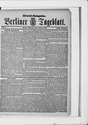 Berliner Tageblatt und Handels-Zeitung vom 02.01.1884