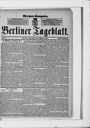 Berliner Tageblatt und Handels-Zeitung vom 03.01.1884
