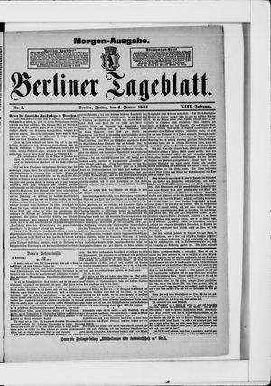 Berliner Tageblatt und Handels-Zeitung vom 04.01.1884