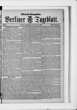 Berliner Tageblatt und Handels-Zeitung vom 05.01.1884