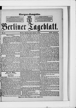 Berliner Tageblatt und Handels-Zeitung vom 06.01.1884