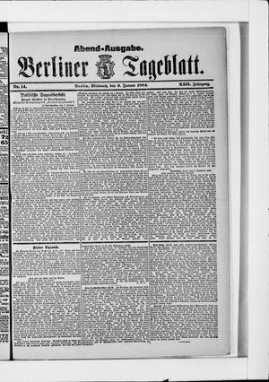 Berliner Tageblatt und Handels-Zeitung vom 09.01.1884