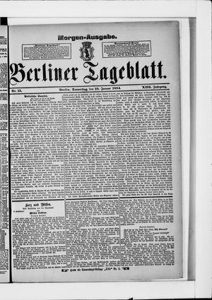 Berliner Tageblatt und Handels-Zeitung vom 10.01.1884
