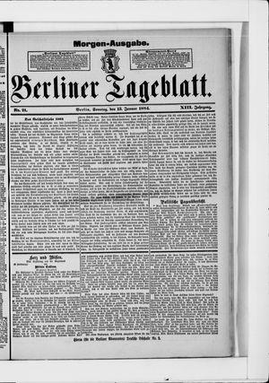 Berliner Tageblatt und Handels-Zeitung vom 13.01.1884