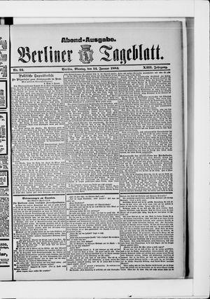 Berliner Tageblatt und Handels-Zeitung vom 14.01.1884
