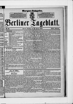 Berliner Tageblatt und Handels-Zeitung vom 15.01.1884
