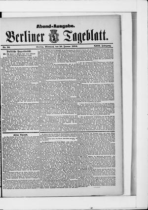 Berliner Tageblatt und Handels-Zeitung vom 16.01.1884