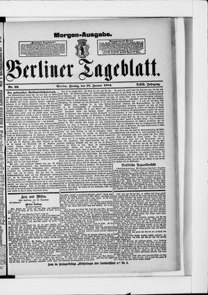 Berliner Tageblatt und Handels-Zeitung vom 18.01.1884