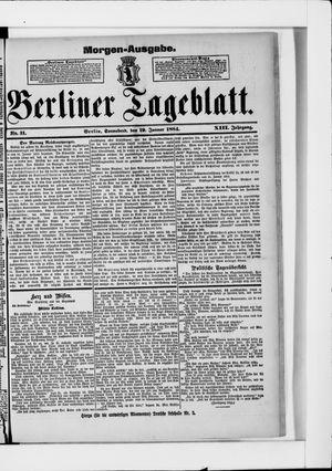 Berliner Tageblatt und Handels-Zeitung vom 19.01.1884