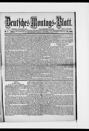 Berliner Tageblatt und Handels-Zeitung vom 21.01.1884
