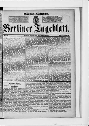 Berliner Tageblatt und Handels-Zeitung vom 22.01.1884