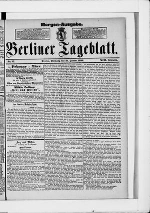 Berliner Tageblatt und Handels-Zeitung vom 23.01.1884