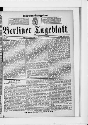 Berliner Tageblatt und Handels-Zeitung vom 24.01.1884