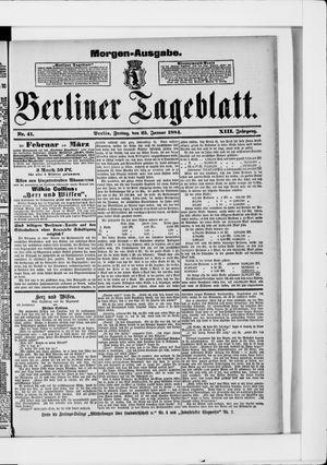 Berliner Tageblatt und Handels-Zeitung vom 25.01.1884