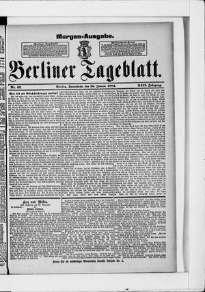 Berliner Tageblatt und Handels-Zeitung on Jan 26, 1884