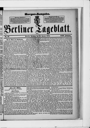 Berliner Tageblatt und Handels-Zeitung vom 29.01.1884
