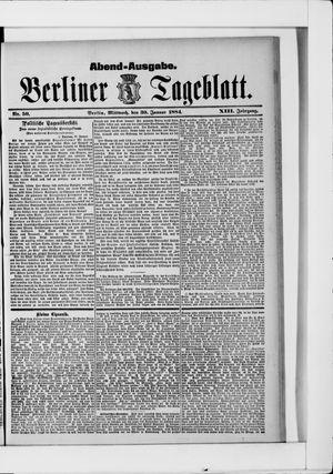 Berliner Tageblatt und Handels-Zeitung vom 30.01.1884