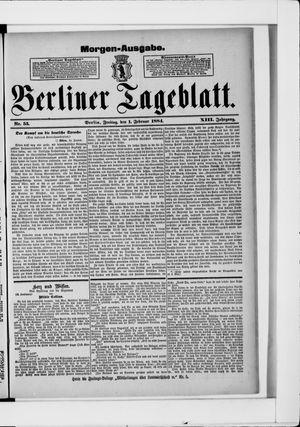 Berliner Tageblatt und Handels-Zeitung vom 01.02.1884