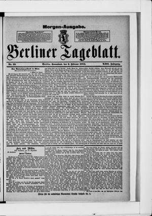 Berliner Tageblatt und Handels-Zeitung vom 02.02.1884