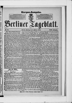 Berliner Tageblatt und Handels-Zeitung vom 03.02.1884
