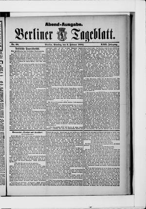 Berliner Tageblatt und Handels-Zeitung vom 05.02.1884