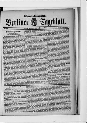 Berliner Tageblatt und Handels-Zeitung vom 06.02.1884