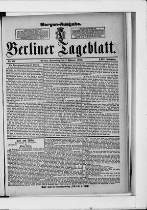 Berliner Tageblatt und Handels-Zeitung vom 07.02.1884