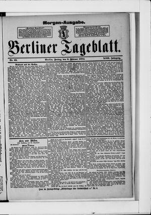 Berliner Tageblatt und Handels-Zeitung vom 08.02.1884