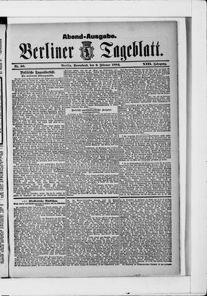 Berliner Tageblatt und Handels-Zeitung vom 09.02.1884