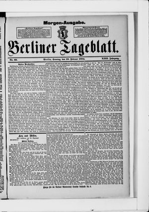 Berliner Tageblatt und Handels-Zeitung vom 10.02.1884