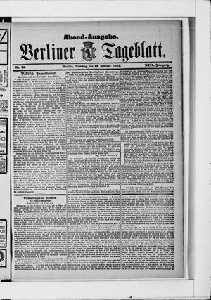Berliner Tageblatt und Handels-Zeitung vom 12.02.1884