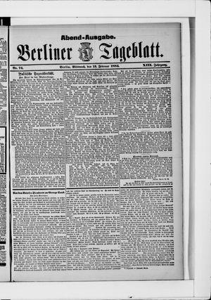 Berliner Tageblatt und Handels-Zeitung vom 13.02.1884