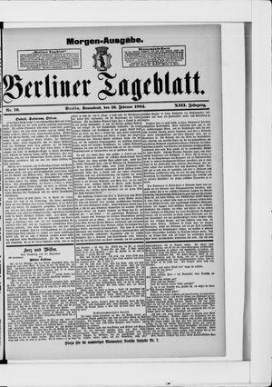 Berliner Tageblatt und Handels-Zeitung vom 16.02.1884