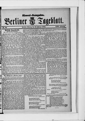 Berliner Tageblatt und Handels-Zeitung vom 18.02.1884