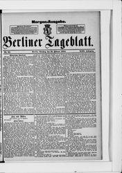 Berliner Tageblatt und Handels-Zeitung (19.02.1884)