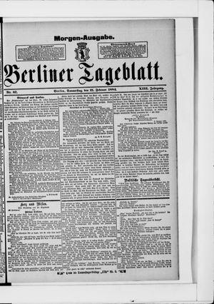Berliner Tageblatt und Handels-Zeitung vom 21.02.1884